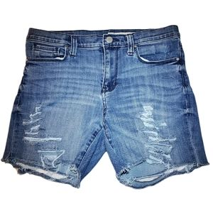 DKNY NWOT Distressed Ripped Jean Shorts Size 4 4x30